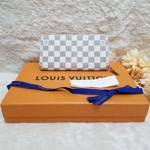 Louis Vuitton Zippy Wallet Damier Azur